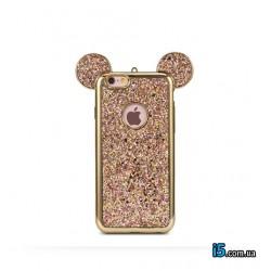 Чехол силиконовый Микки розовый на Iphone 7 PLUS