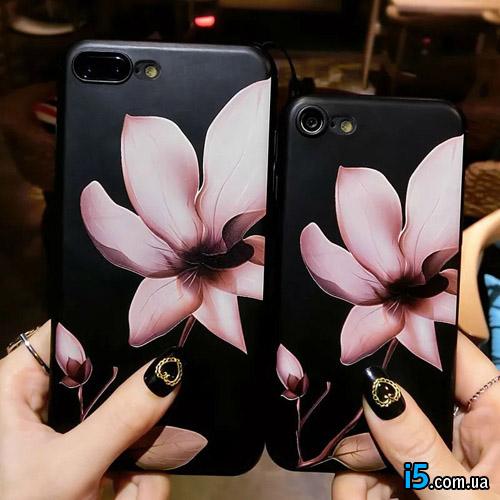 Чехол пластиковый Цветок магнолия на Iphone 7 PLUS