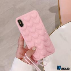 Чехол силиконовый 3D Сердце на Iphone X 10