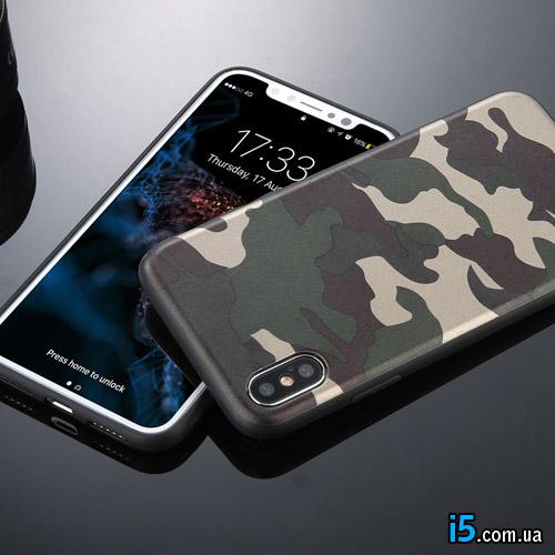 Чехол силиконовый ArmyGreen на Iphone X 10