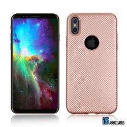 Чехол силиконовый Карбон на Iphone X 10