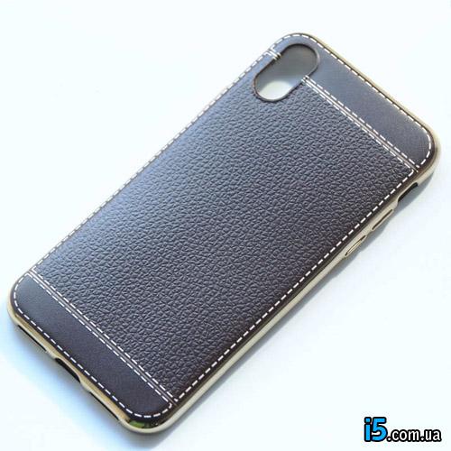 Чехол силиконовый Кожа на Iphone X 10