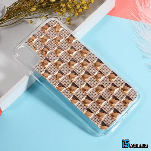 Чехол силиконовый Кристаллы на Iphone X 10