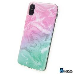 Чехол силиконовый Мрамор на Iphone X 10