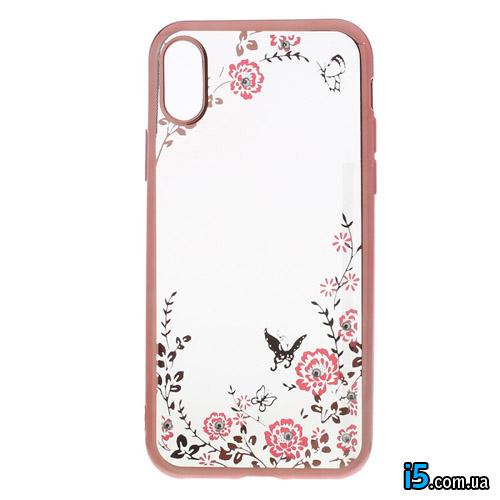 Чехол силиконовый Розы на Iphone X 10