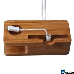 Док станция деревянная для Iphone 5/5s 6/6s и Apple watch