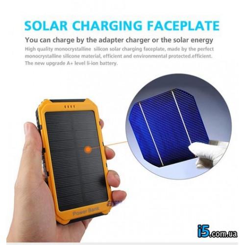 Powerbank с солнечной батареей 7500 mah